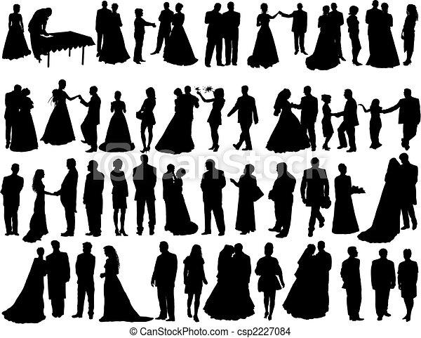 wedding silhouettes - csp2227084