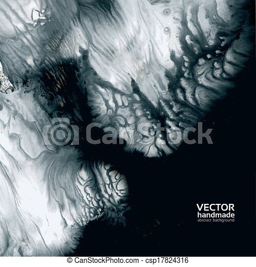 wet black and white vector paint - csp17824316