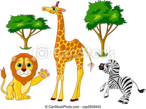 Wild animals 1 - csp2659443