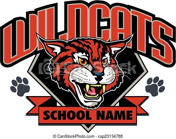 wildcats mascot design - csp23134788