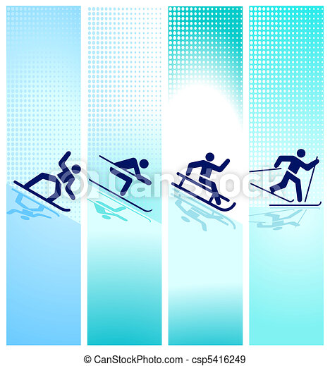 winter sports in the mountain - csp5416249