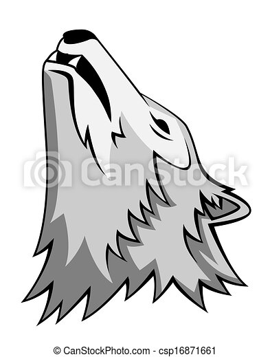 wolf howling - csp16871661
