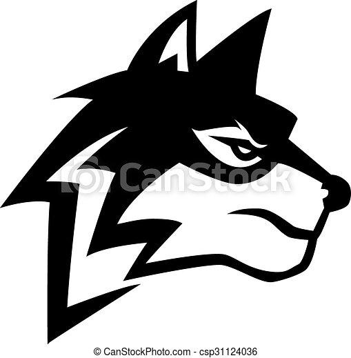 Wolf illustration design - csp31124036