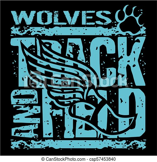 wolves track and field - csp57453840