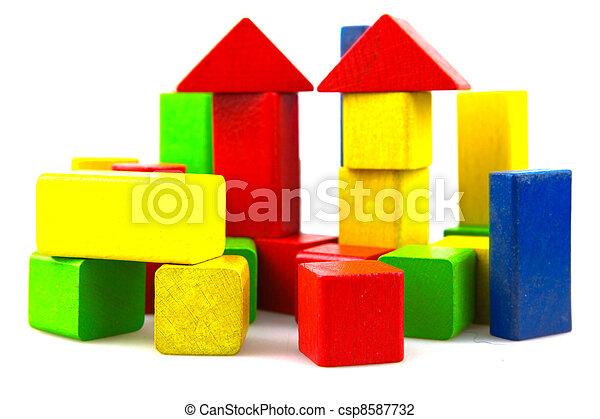 Wooden building blocks - csp8587732